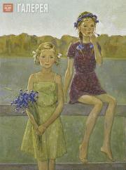 Yekaterina CHERNYSHEVA. A Warm Evening. (Swallows). 1985