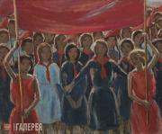 Chernyshev Nikolai. Young Pioneers' Parade. 1924