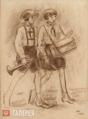 Chernyshev Nikolai. Young Pioneers. 1928