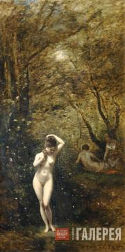 Corot Jean Baptist Camille. Diana Bathing. 1873–1874