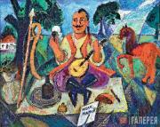 David Burliuk. Cossack Mamai. 1908