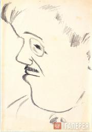 Larionov Mikhail. Portrait of Sergei Diaghilev. 1930s