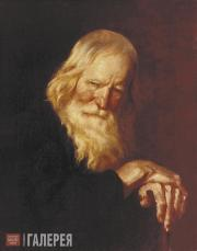 Khudyakov Vasily. Old Man with a Stick. 1844