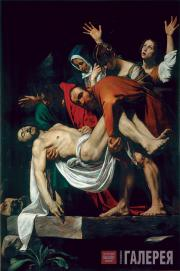 Caravaggio (Michelangelo Merisi da Caravaggio). The Entombment of Christ. 1602-1