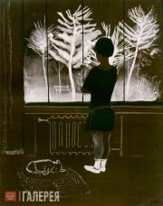 Deineka Alexander. Winter. Young Girl at a Window. 1931