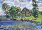 Stasyuk Alexander. Fisherman's house. 2018