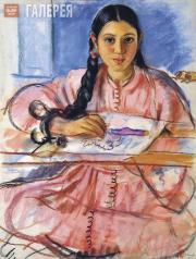 Serebryakova Zinaida. Girl with a Hoop. Fez. 1932