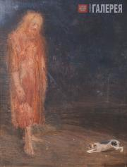 Repin Yury. Christ and a Dog. First half of the 20th century [1920s-1930s]