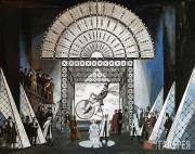 """Valery Levental. Set design for """"Les Contes d'Hoffmann"""", opera by Jacques Offen"""
