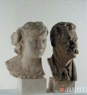 Dubosarsky Vladimir. Maxim Gorky and a Girl. Еarly 1990s