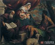 Якопо БАССАНО.  Мадонна с младенцем, Иоанн Креститель и св. Антоний Аббат
