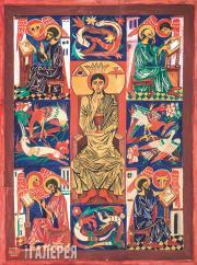 Goncharova Natalia. Christ Pantocrator (Four Evangelists). 1916