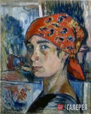 Goncharova Natalia. Self-Portrait. 1907-1908
