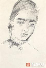 Falk Robert. Portrait of Olga Severtseva. 1951