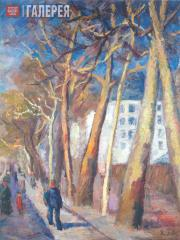 Falk Robert. Spring in Paris. Plane Trees on the Embankment. 1930s