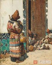 Верещагин Василий. У дверей мечети. 1870-е