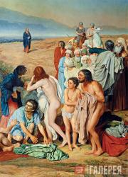 Ivanov Alexander. The Appearance of Christ to the People. 1837–57. Detail