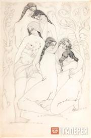 Gudiashvili Lado. The Bathers. 1921