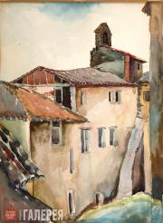 Gudiashvili Lado. The House in the Village Bruniquel. 1924