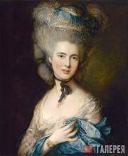 Gainsborough Thomas. Portrait of a Lady in Blue. c. 1780