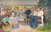 Gerasimov Sergei. A Festival at the Collective Farm. 1937