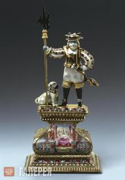 Unknown artist. Pearl figurine: Battle-axe Holder with Dog. Before 1706