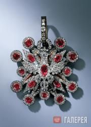 Johann August JORDAN. Badge of the Polish Order of the White Eagle from the Ruby