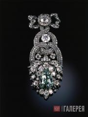 Franz Michael DIESPACH. Hat Agraffe with the Dresden Green Diamond from the Diam