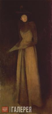 Whistler James McNeill. Harmony in Brown: The Felt Hat. 1891