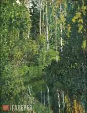 Golovin Alexander. A River in a Forest. 1908-1910