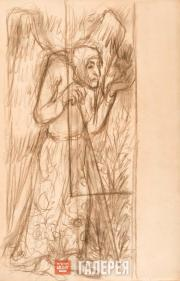 Goncharova Natalia. Autumn. Various drawings for the panel painting 'Snowmaiden'