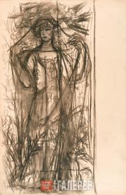 Goncharova Natalia. Winter. Various drawings for the panel painting 'Snowmaiden'
