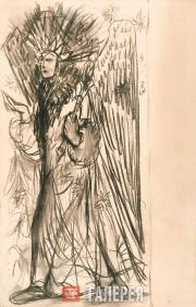 Goncharova Natalia. Summer. Various drawings for the panel painting 'Snowmaiden'