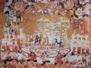 """Goncharova Natalia. Sketch of the curtain for """"The Golden Cockerel"""" production a"""