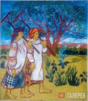 Н.С.Гончарова. Бабы с граблями.1907
