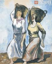 Shevchenko Alexander.  Laundresses. 1928