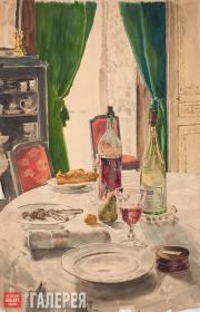 Yakunchikova Maria. The Set Table. 1889–1890s