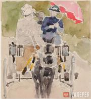 Якунчикова Мария. Красный зонтик. 1890-е