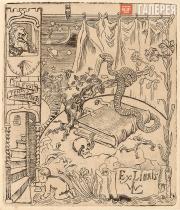 Yakunchikova Maria. Ex Libris of Leon Weber. 1896–1897