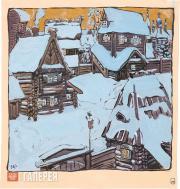 Yakunchikova Maria. Small Town in Winter. 1898