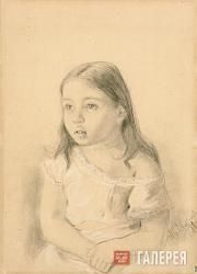 Levitan Isaaс. Portrait of Nadya Yakovleva. 1880