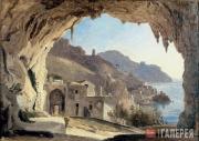 Catel Franz. Grotto in Amalfi. 1818-1824