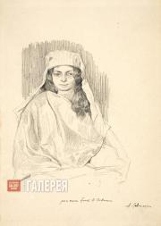 Levitan Isaaс. A Sitter in an Oriental Wrap. 1884