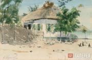 Kuzginov Konstantin. A Small Hut. 1940