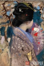 Henry George. Japanese Lady with a Fan. 1894