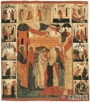 The Presentation of Our Lady Theotokos into the Temple, with Scenes from Her Lif