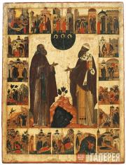 Venerable St. Kyrill of Belozersk and St. Cyrill of Alexandria, with Scenes from