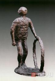 Gadaev Lazar. Boy with a Wheel. 1986
