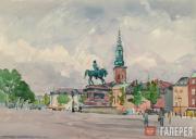 Alexander Siegfried Borchardt Levy-Benois di Stetto. A Square in Copenhagen.1955