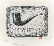 Magritte René. Ceci n'est pas une pipe (This Is Not a Pipe). 1962
